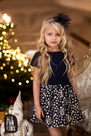 Granatowa sukienka w gwiazdki Stars