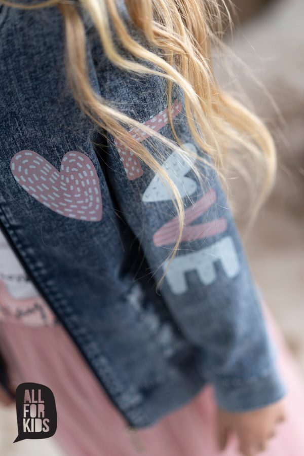 Kurtka jeansowa dziewczęca Jeans Love