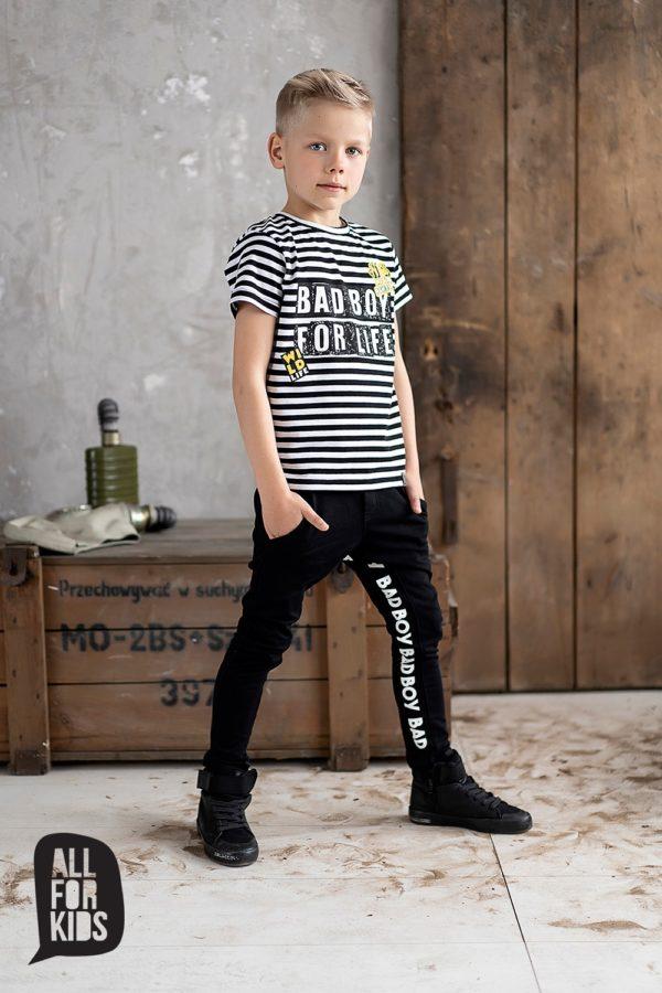 Chłopięca koszulka w paski Bad Boy