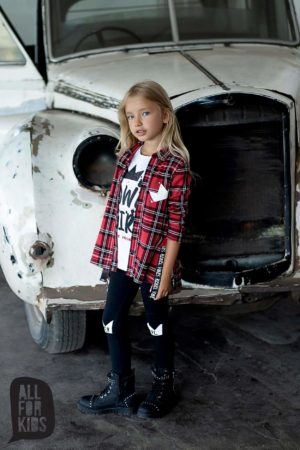Koszula w kratę dla dziewczynki Power