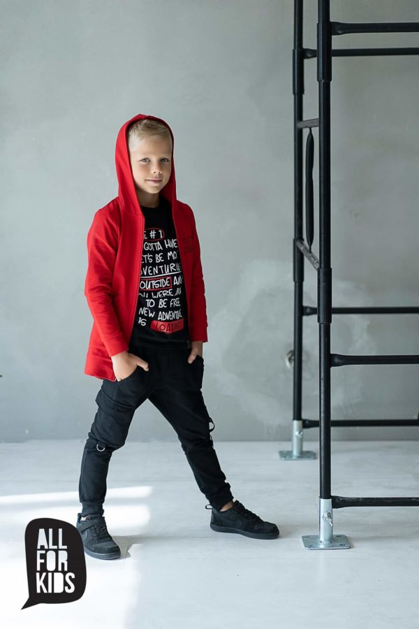 Czarna bluza chłopięca Rule #1