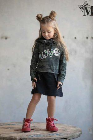 Dziewczęca sukienka 2 częściowa moro