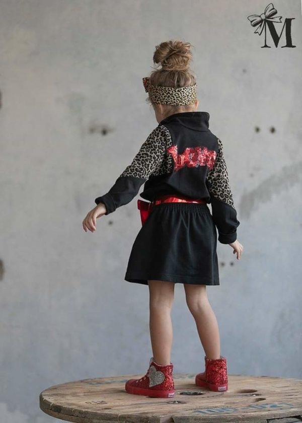 Sukienka dla dziewczynki z czerwoną torebką