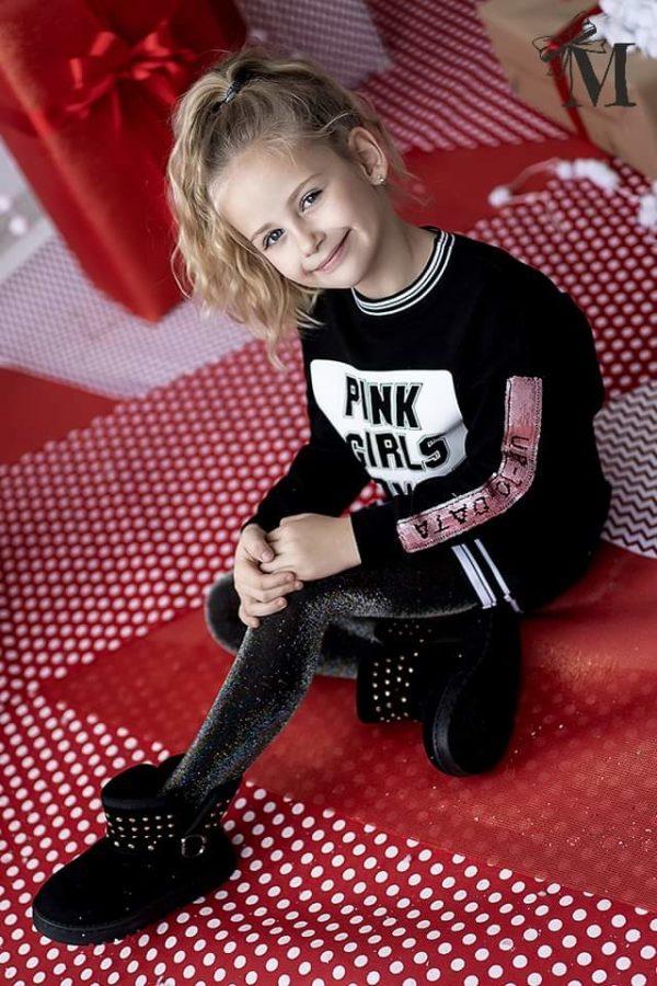 Tunika pink dla dziewczynek Girls Power