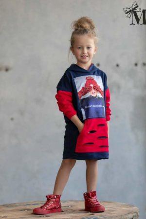 Tunika z kapturem dla dziewczynki