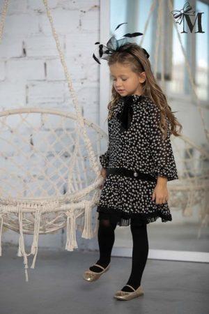 Sukienka dla dziewczynki elegancka w gwiazdki