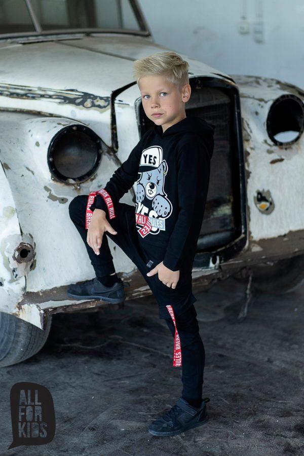 Spodnie dresowe czarne Break dla chłopców