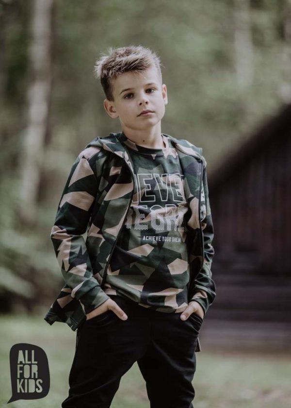 Bluzka moro dla chłopca Never Regret