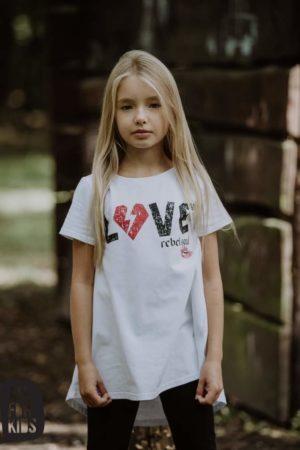 Biała tunika dla dziewczynki Rebel Soul