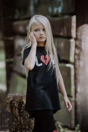 Tunika czarna dla dziewczynek Rebel Soul