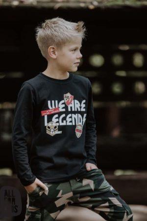 Czarna bluza z długim rękawem dla chłopca We are Legend