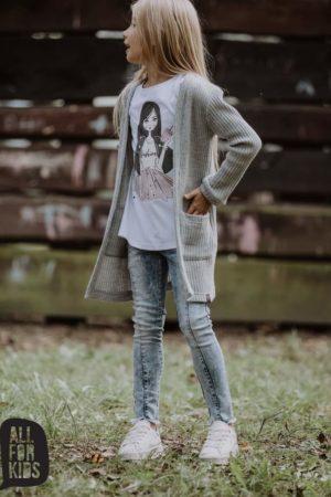Spodnie dla dziewczynek Fashion Jeans