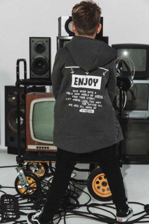 Grafitowa bluza dla chłopca Enjoy limited edition