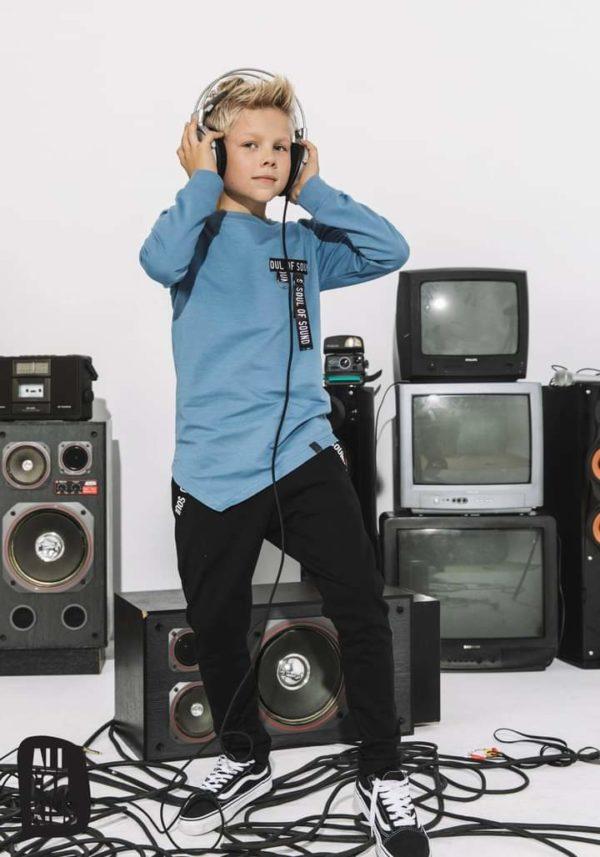 Czarne spodnie dla chłopca Unpluged