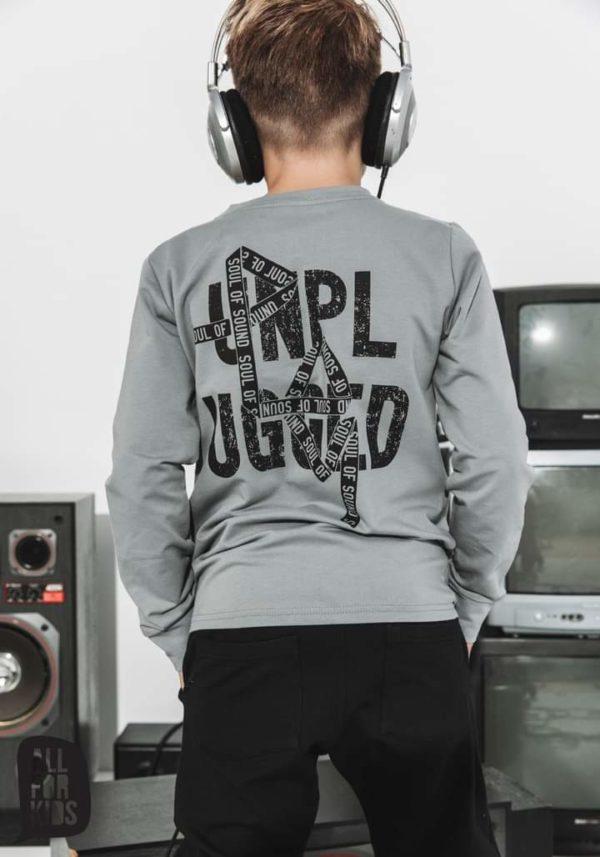 Bluza chłopięca bez kaptura szara Unpluged