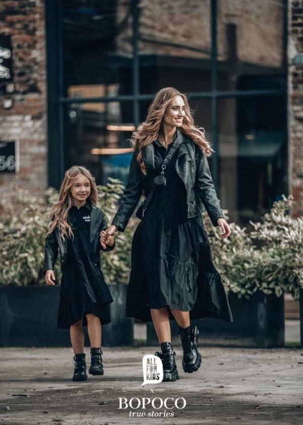 Czarna sukienka dla dziewczynki Alsolutely Unique