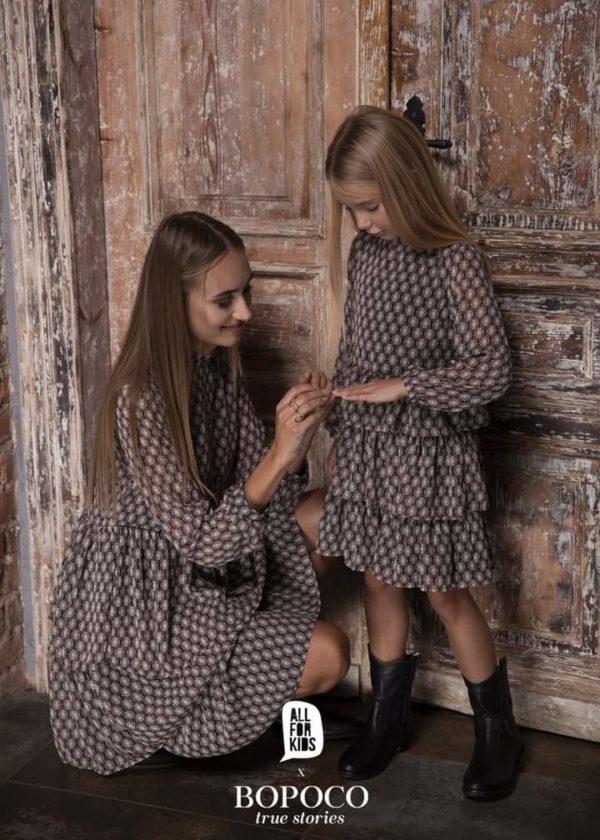 Wzorzysta sukienka dla dziewczynki Mama&Córka