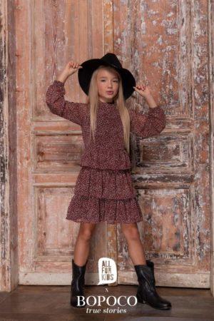 Sukienka z falbankami dla dziewczynki Mama&Córka