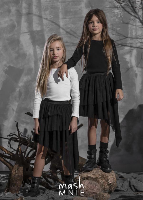 Spódnica asymetryczna dla dziewczynek Mashmnie