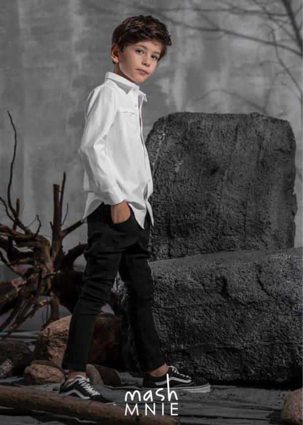 Biała koszula chłopięca MashMnie Revolution