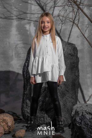 Biała koszula dla dziewczynki Mashmnie