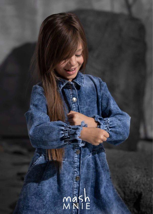 Sukienka jeansowa dla dziewczynki MashMnie