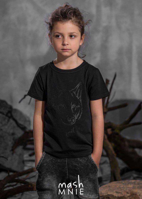 Koszulka z wilkiem dla chłopca Mashmnie wolf