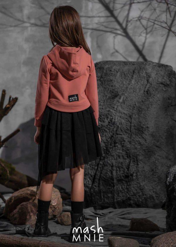 Dziewczęca bluza Mashmine kolor koralowy