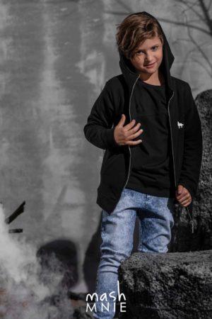 Chłopięce spodnie z przetarciami jeansowe MashMnie