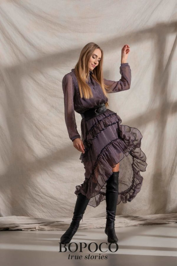 Damska sukienka navy BOPOCO