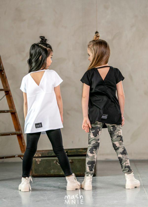 Długa bluzka dla dziewczynki w kolorze białym MashMnie