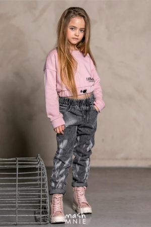 Bluza dla dziewczynki CROP TOP różowa MashMnie