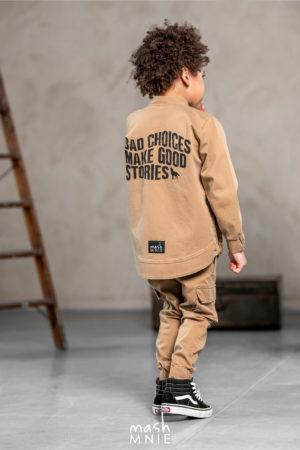 Bluza bomberka chłopięca beżowa MashMnie