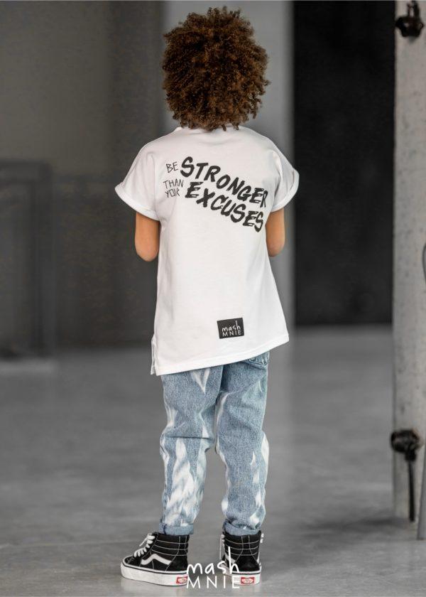 T-shirt dla chłopca biały Camouflage Mashmnie