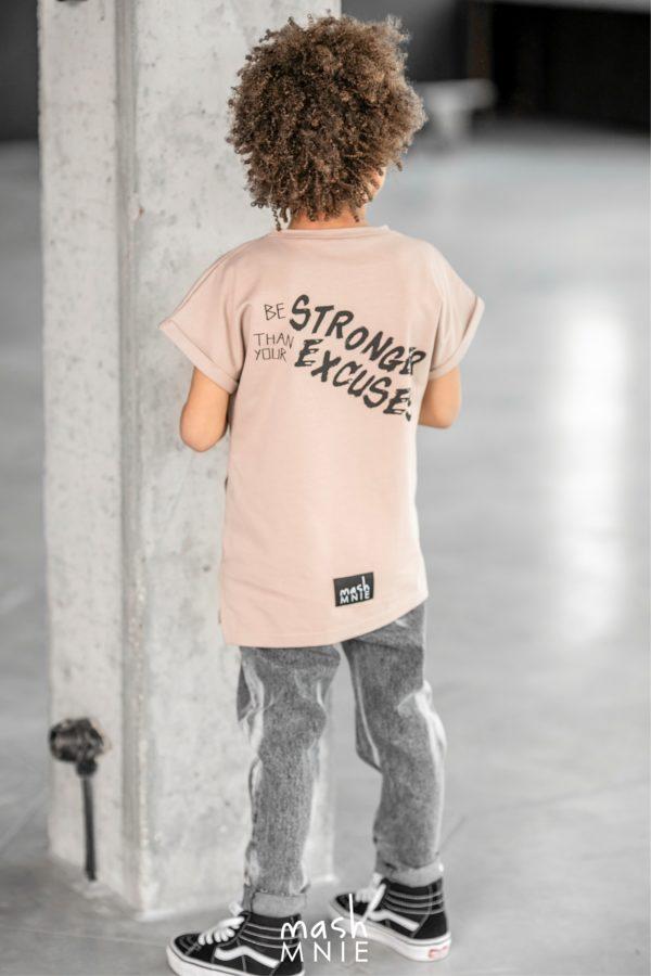 T-shirt chłopięcy beżowy Camouflage Mashmnie