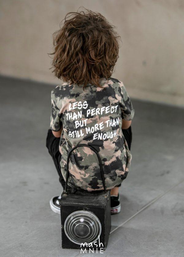 T-shirt chłopięcy moro Wild Wolf Mashmnie