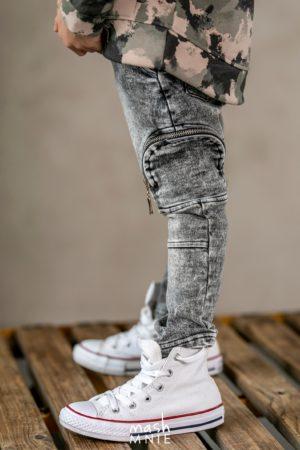Spodnie dla chłopca Ice Dye szare MashMnie