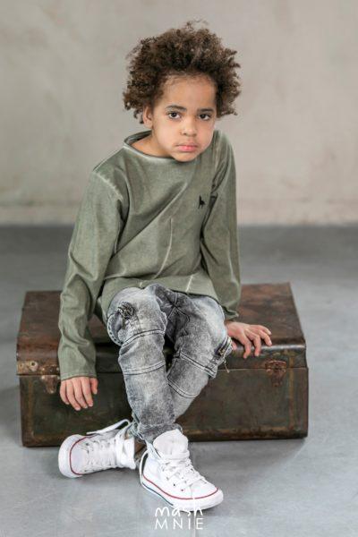 Longlsleeve dla chłopca w kolorze khaki Camouflage MashMnie