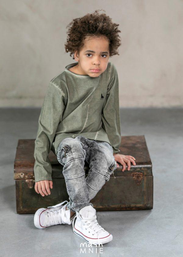 Longsleeve dla chłopca w kolorze khaki Camouflage MashMnie