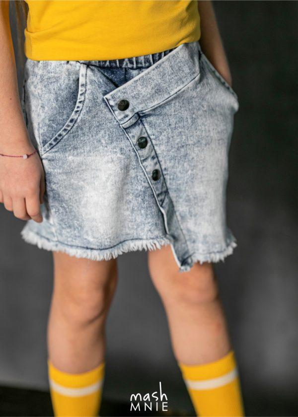 Spódnica jeansowa dla dziewczynki Ice Dye MashMnie