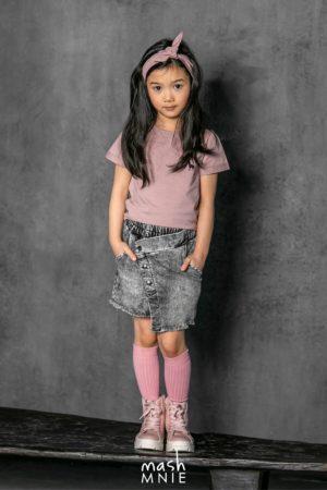 Bluzka dla dziewczynki różowa z wycięciem na plecach MashMnie