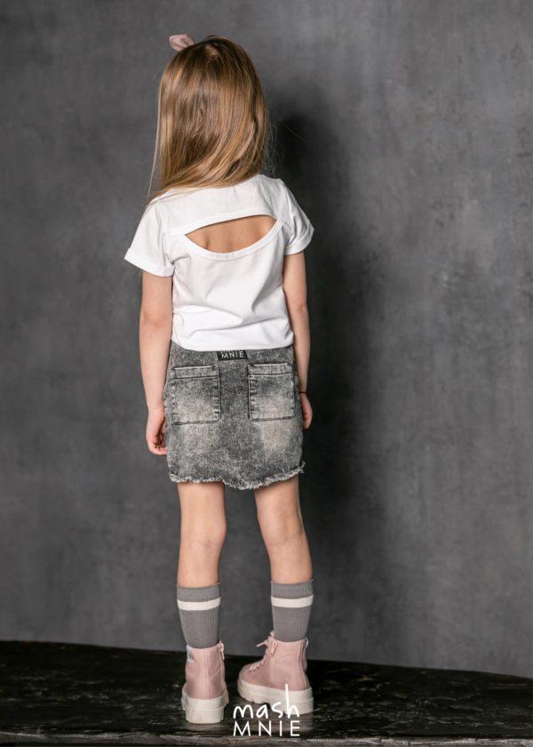Spódnica dziewczęca Ice Dye szara MashMnie