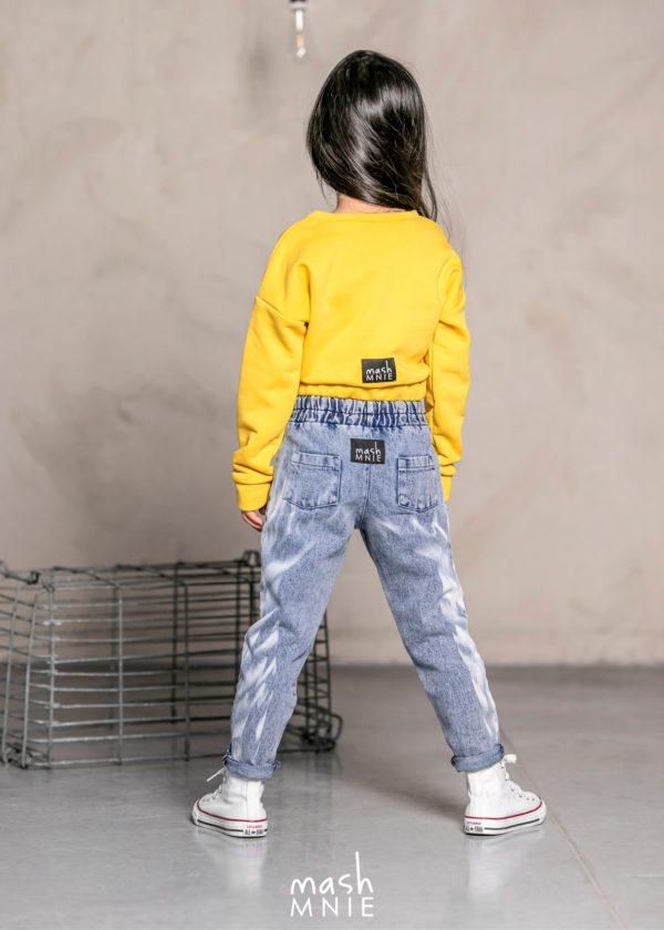 Spodnie jeansowe dla dziewczynki Boyfriend MashMnie