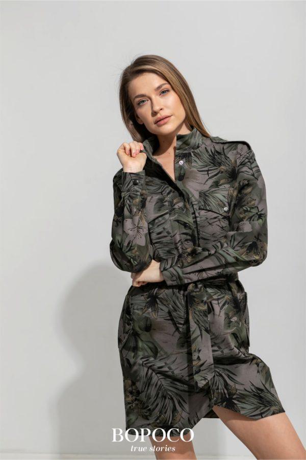 Damska sukienka szmizjerka BOPOCO