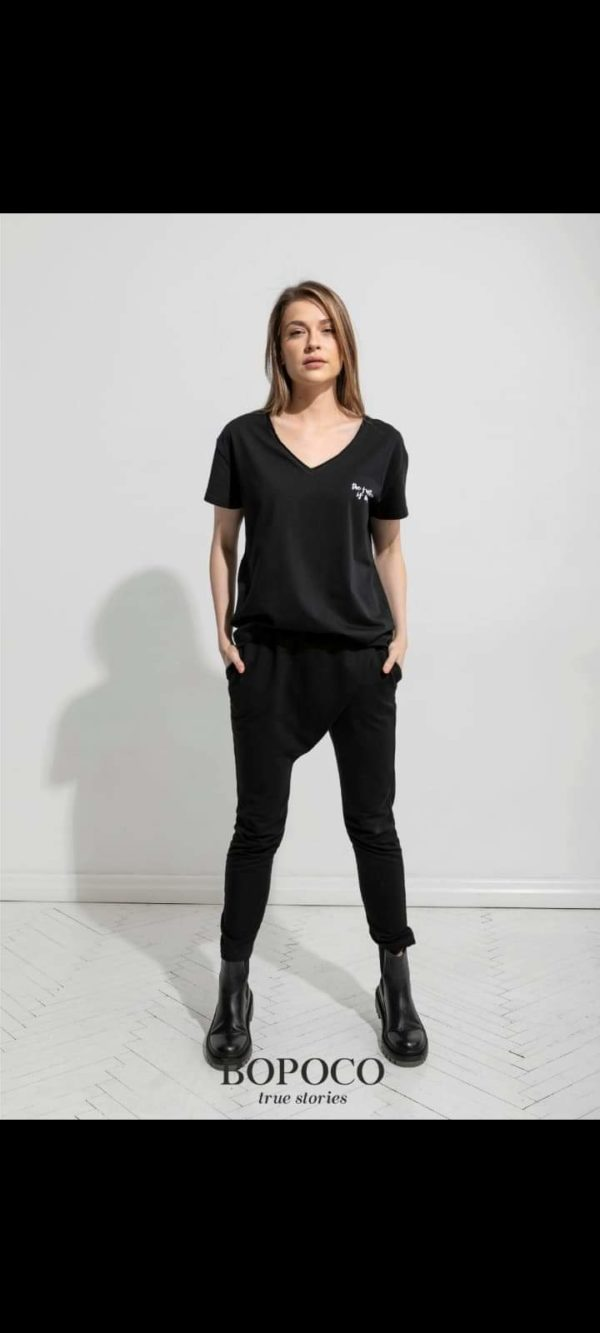Damski t-shirt czarny The Future BOPOCO