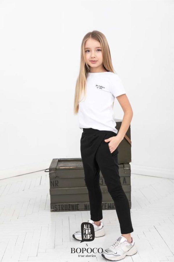 Spodnie dla dziewczynki z zakładką Mama&Córka