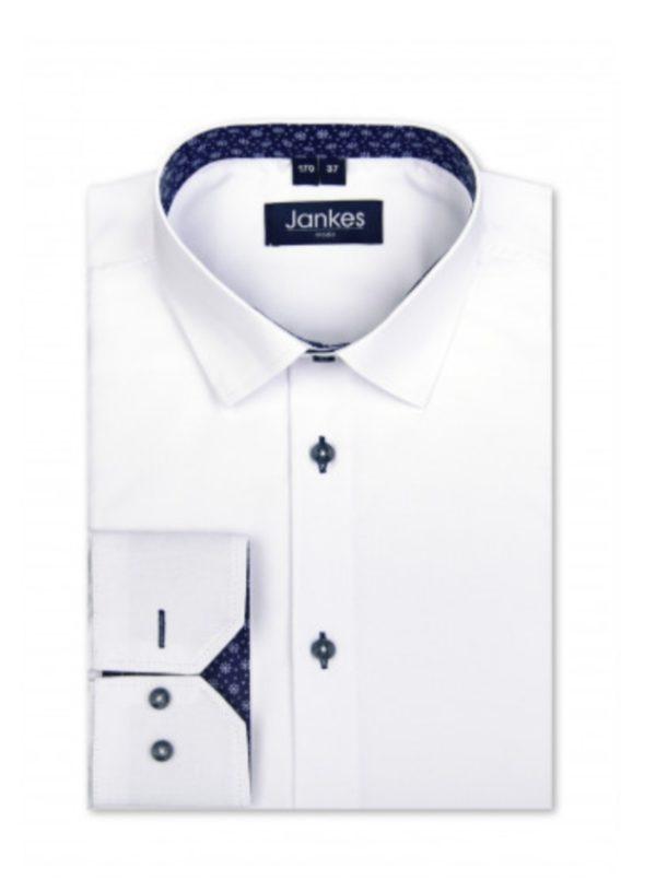 Elegancka koszula dla chłopca biała Jankes