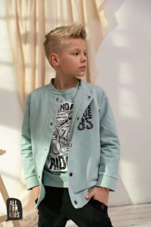 Bluza dla chłopca miętowa bomberka