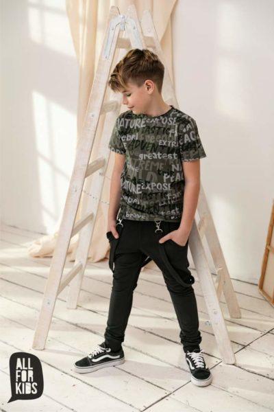 T shirt dla chłopca w kolorze khaki