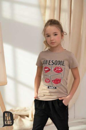 Biały T-shirt dziewczęcy Avesome